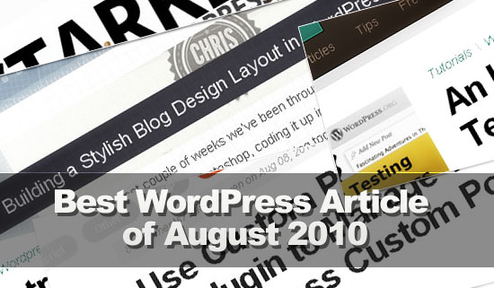 best wordpress articles of August