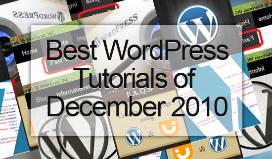 best wordpress tutorials of december