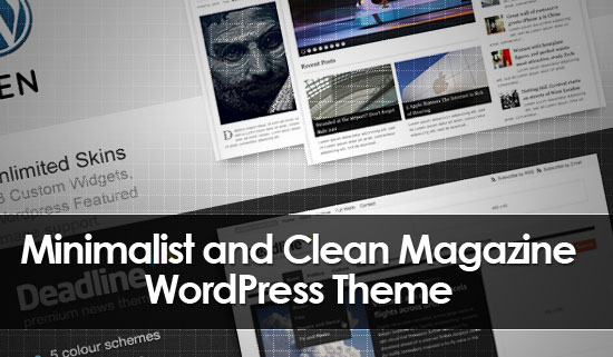 10 High Quality Minimalist Magazine WordPress Themes