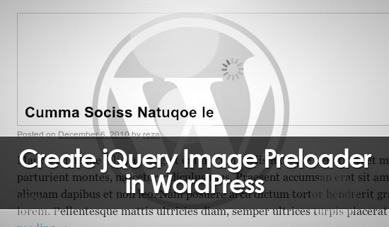 create image preloader with jquery in wordpress