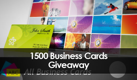 Giveaway - 1500 Business Cards from AllBusinessCard.com
