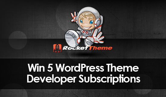 Giveaway WordPress Theme Subscriptions from RocketTheme