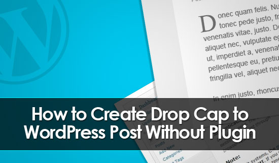 drop cap wordpress